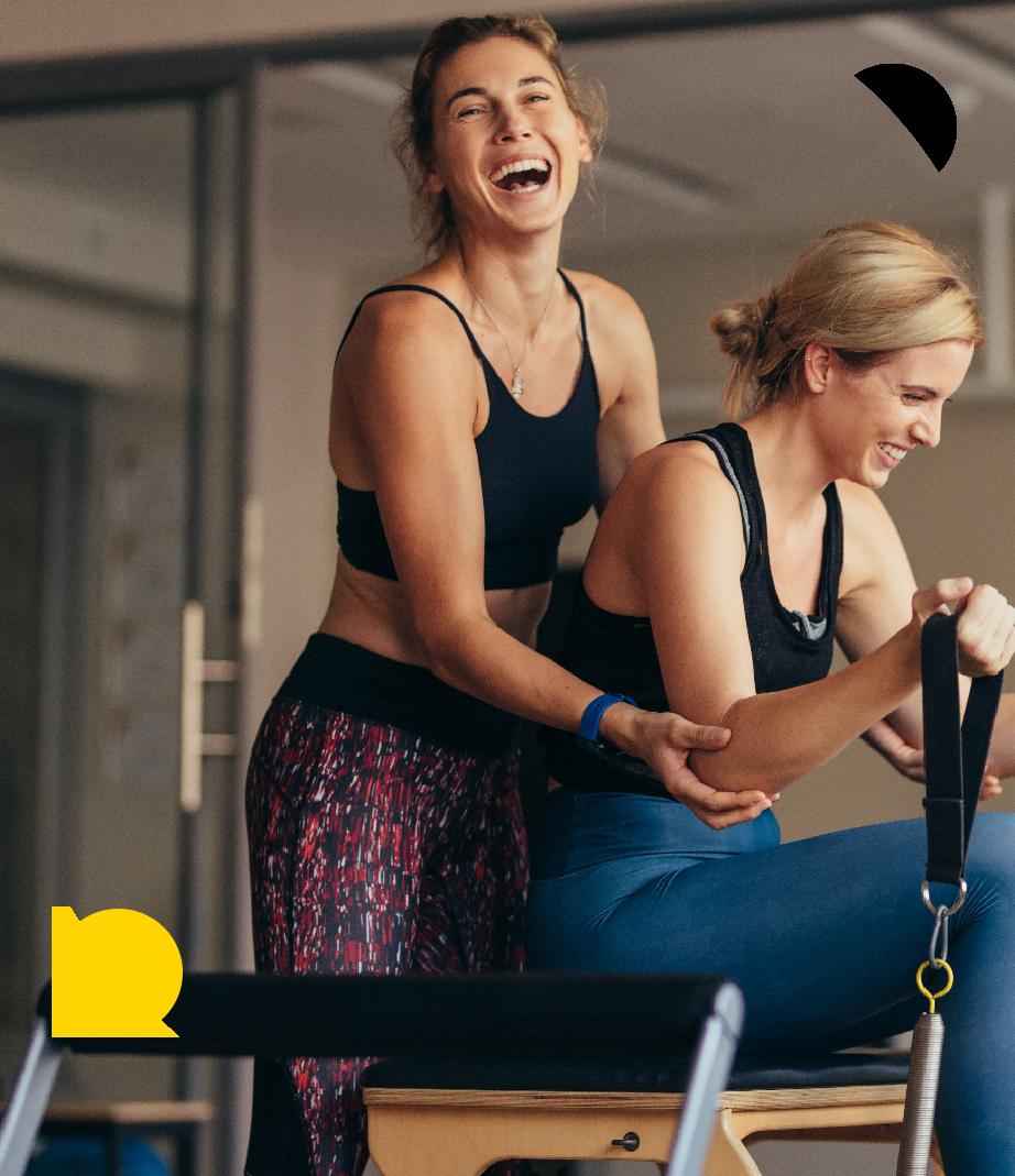 Glade kvinde til træning