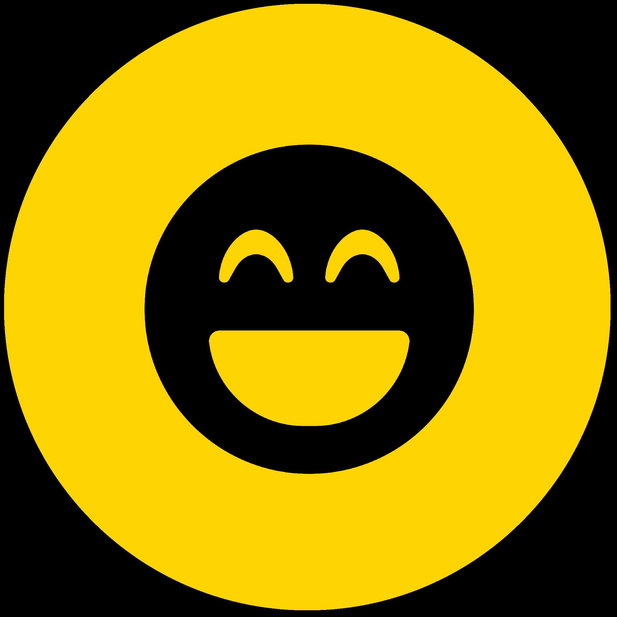 ikon med glad smiley